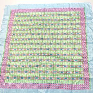 VTG Pastel Spring Scarf in Pale Pink Green & Blue